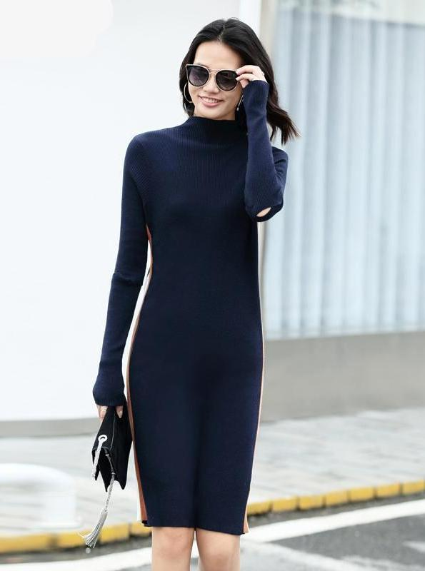 MINIMALISM KNITTED BODYCON DRESS