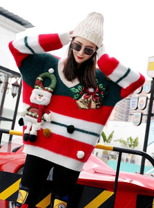 SANTA CLOUSE EXAGGERATED CHRISTMAS SWEATER