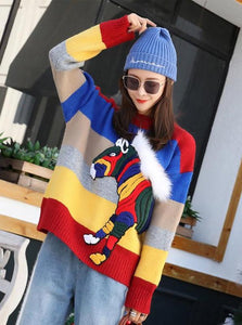 RAINBOW HORSE OVERSIZED SWEATER