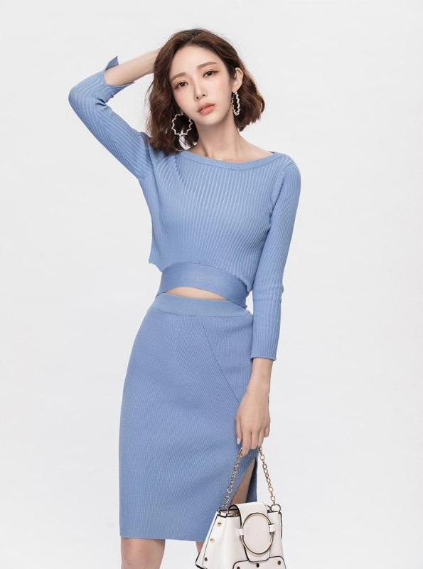 TWO PIECE KNITTED DRESS