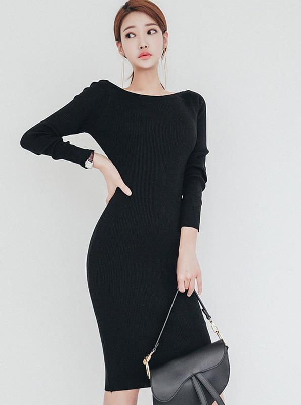 80'S INSPIRED BODYCON SWEATER DRESS