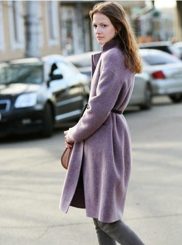 CRUELTY-FREE ALPACA WOOL DOUBLE FACE COAT