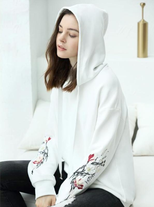EMBROIDERED SLEEVES HOODIE