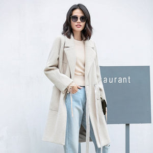 FUZZY LOOSE COAT WITH A BELT