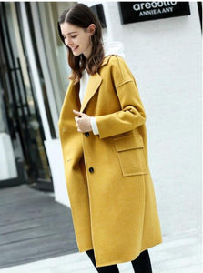 TURNED-OUT CASUAL MAXI COAT
