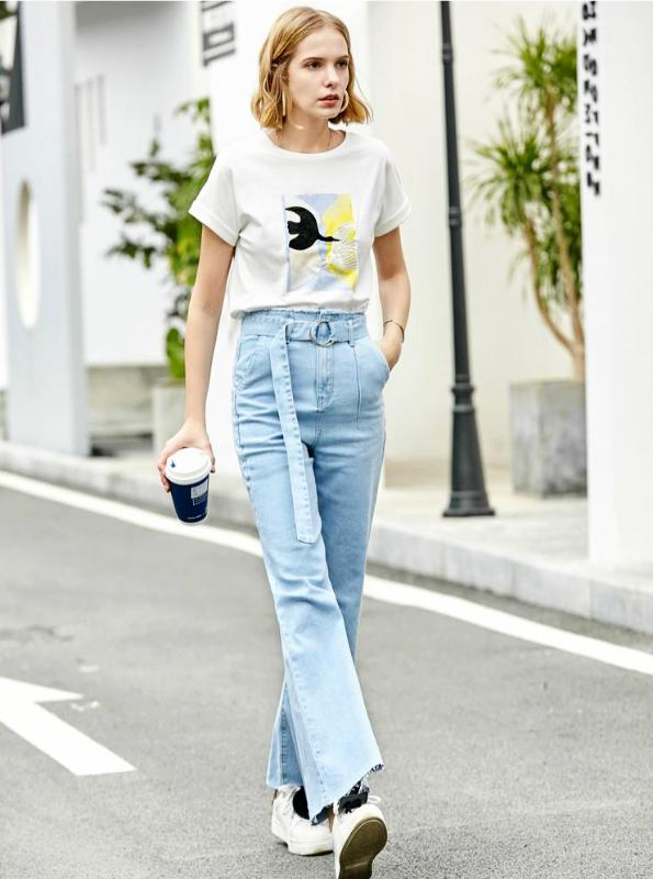 90'S STYLE WIDE LEG JEANS WITH A BELT - IMPAVIID