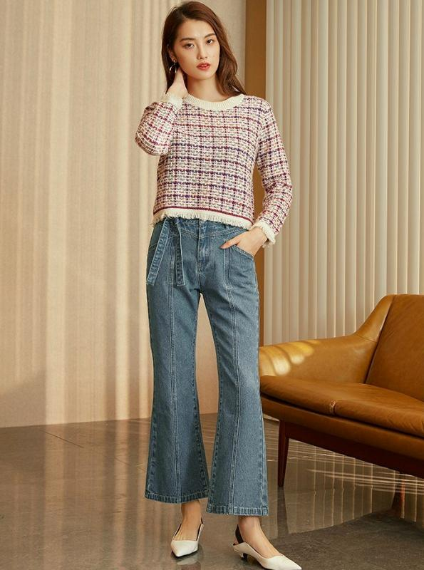 80'S INSPIRED WIDE LEG JEANS - IMPAVIID