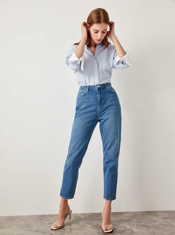 JEANS CROPPED ANKLE MOM