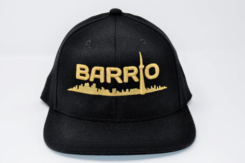 Barrio Cap - Gold on Black Snapback