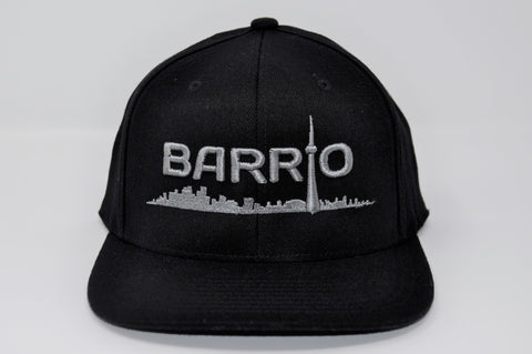 Barrio Cap - Grey on Black Snapback