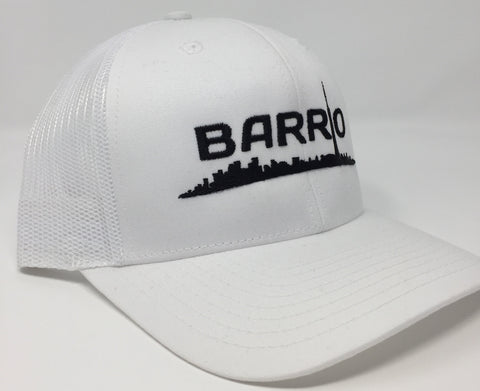 Barrio Cap - Montreal White on Black Snapback