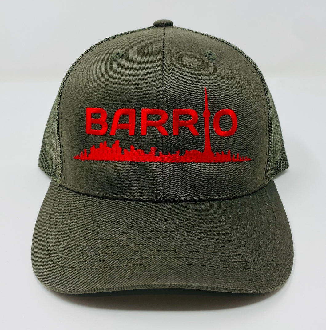 Barrio Trucker Cap - Forest Green - Toronto Latinos