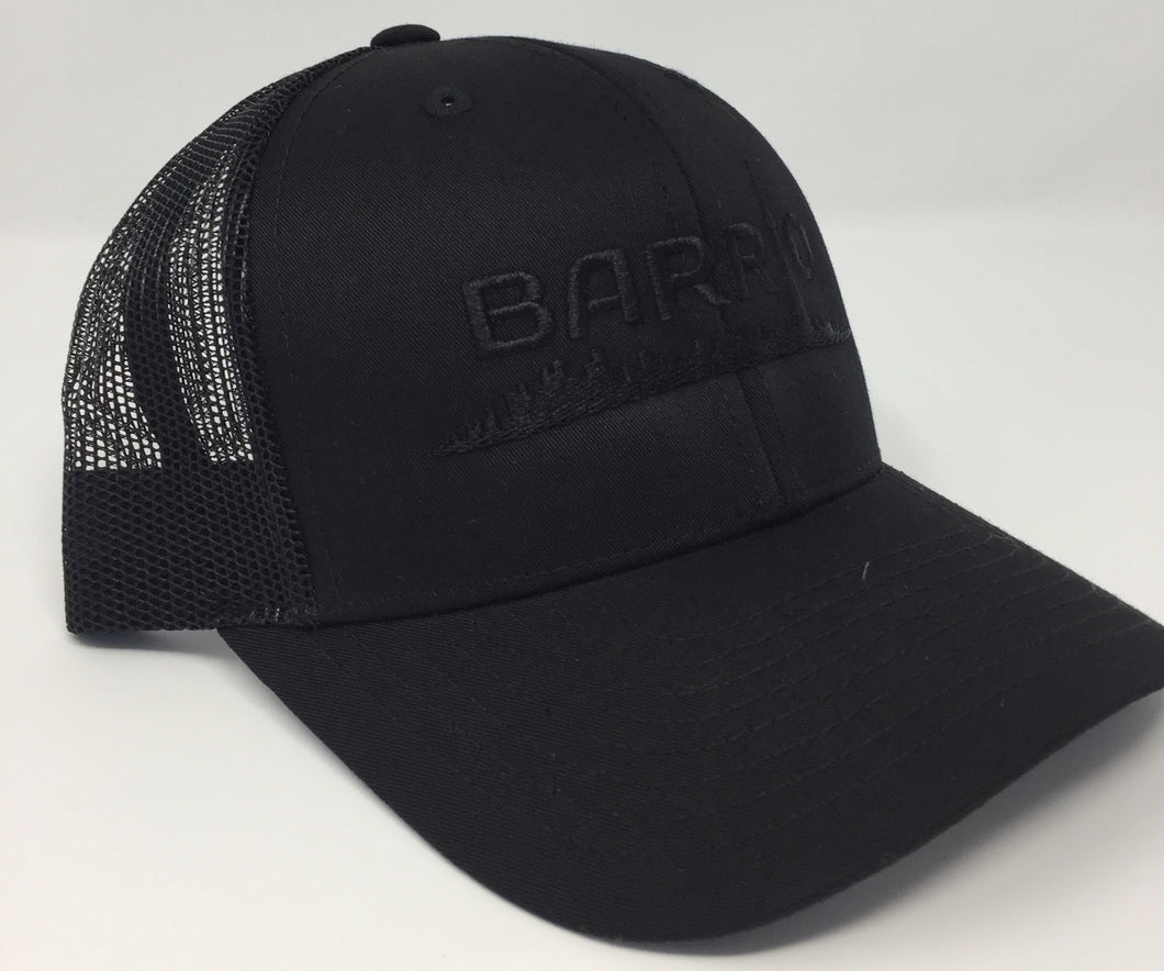 Barrio Trucker Cap - Black on Black - Toronto Latinos