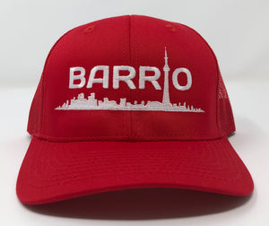 Barrio Trucker Cap - Red - Toronto Latinos