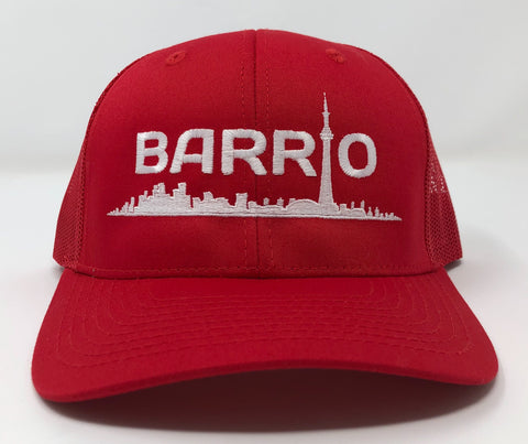 Barrio Cap - White on Black Snapback