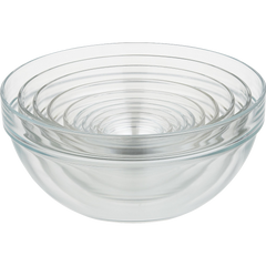 10 Piece 2.25 10.25 Inches Glass Nesting Bowl Set