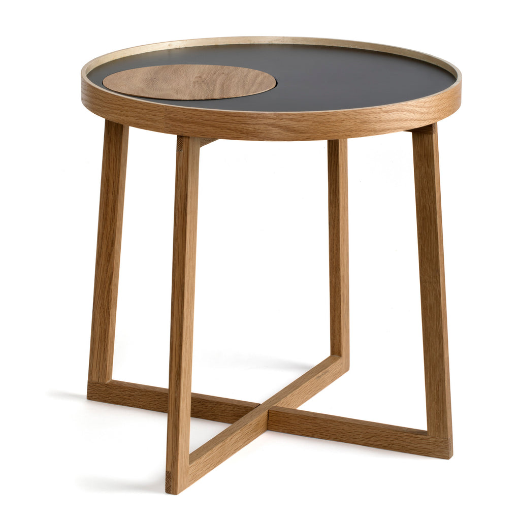 Tray Table - Oak with Black