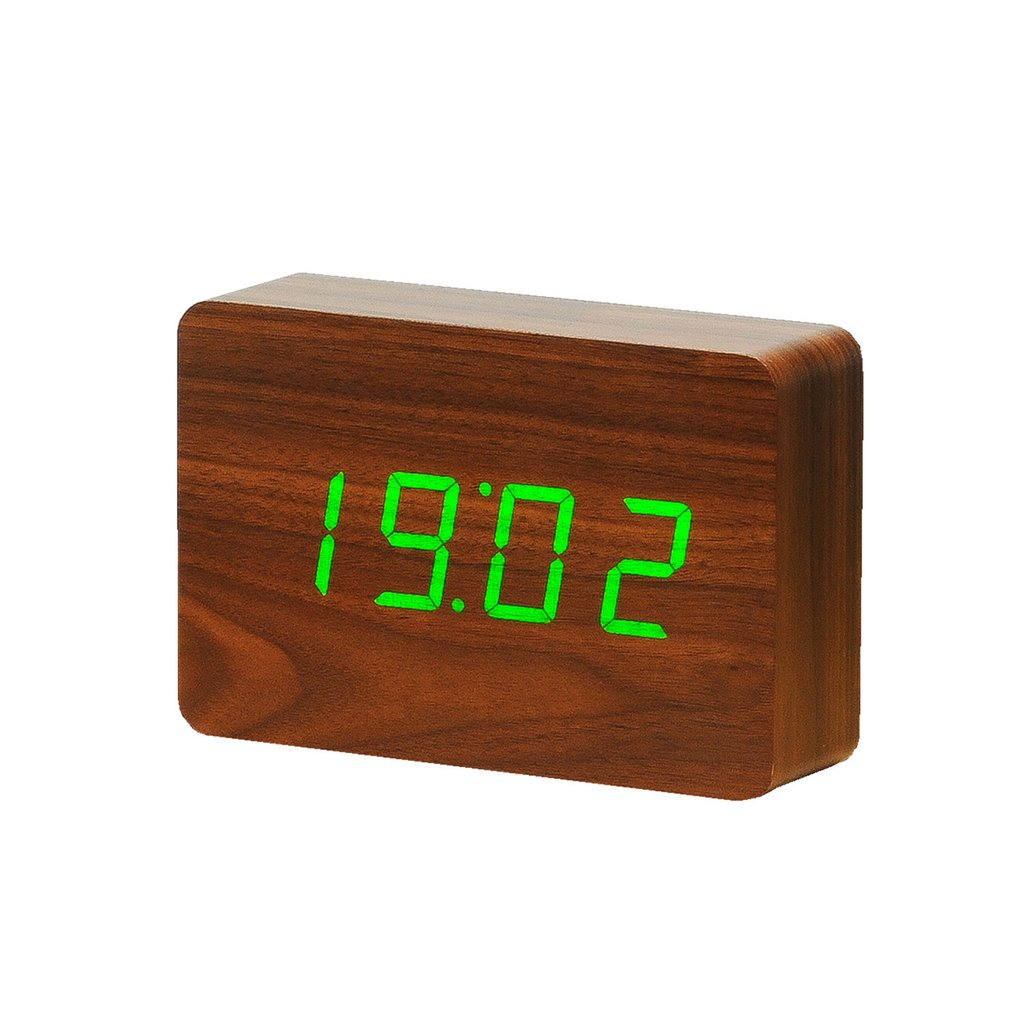 Click Clock Brick - Walnut Colour