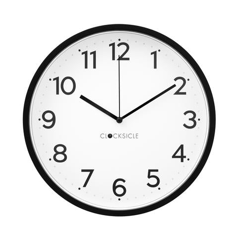 Wall Clock - Black - Black Rim