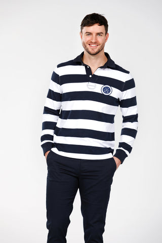 Rugby Top - Navy Stripe