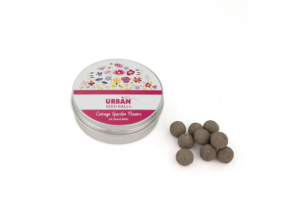 Tin of Seed Balls - Cottage Garden Flowers