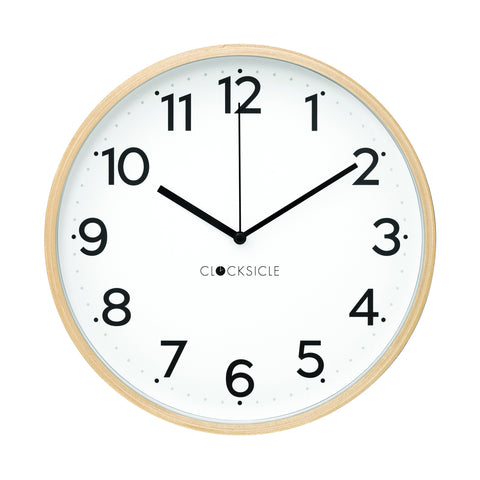 Wall Clock - Black - Wood Rim