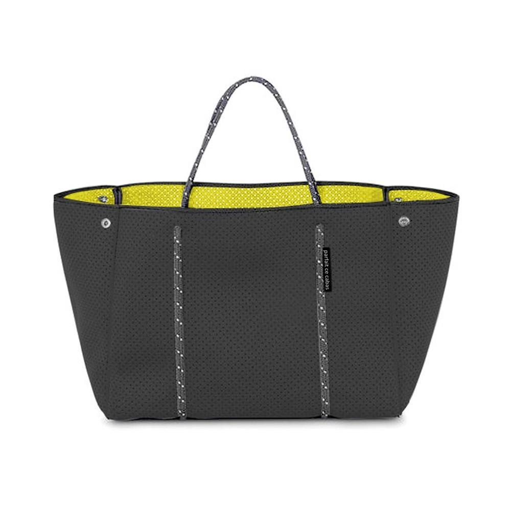 Neoprene Bag - Grey - with lime-coloured lining