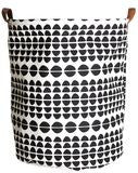 "Large Canvas Storage Bin - ""Half Circles"""