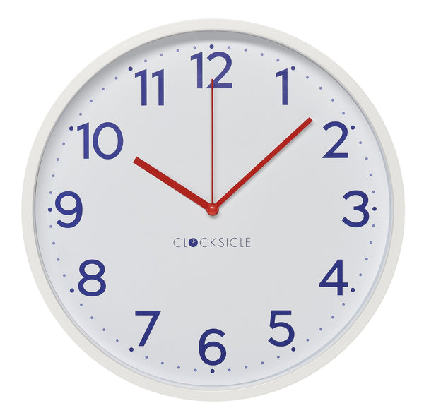 Wall Clock - Navy - White Rim