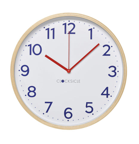 Wall Clock - Navy - Wood Rim