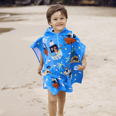 Kid's Beach Poncho (2-4 years) - Pirates