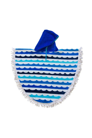 Kid's Beach Poncho (4-9 years) - Waves