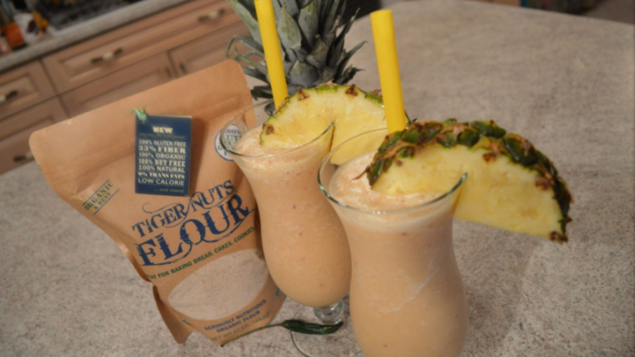 Pineapple Chili Tiger Nuts Smoothies