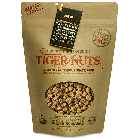 Raw Premium Organic Tiger Nuts x 12 ounce bags. IN STOCK NOW!