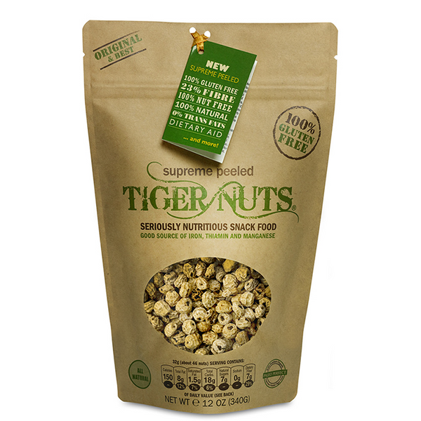 Supreme Peeled Tiger Nuts x 12 ounce bags FREE Shipping on 6 bags or more