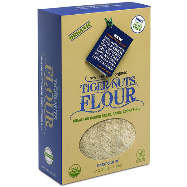 Premium Organic Tiger Nuts Flour x 1 kilo box (2.2 lbs) IN STOCK NOW!