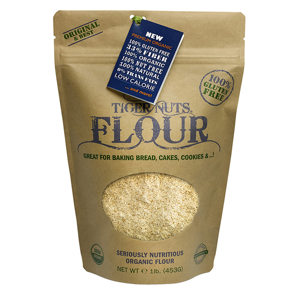 Tiger Nuts Flour x 1 lbs bags - Gluten Free, Organic, Nut Free! IN STOCK NOW! FREE Shipping on 5 bags or more!