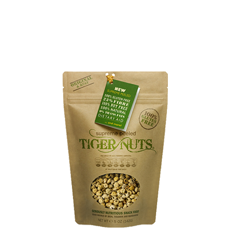 Supreme Peeled Tiger Nuts x 5 ounce bags (Place order now, but they are
