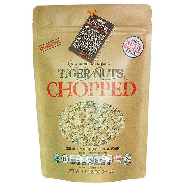 "NEW ""Chopped"" Raw Premium Organic Tiger Nuts x 12 oz bags, IN STOCK"
