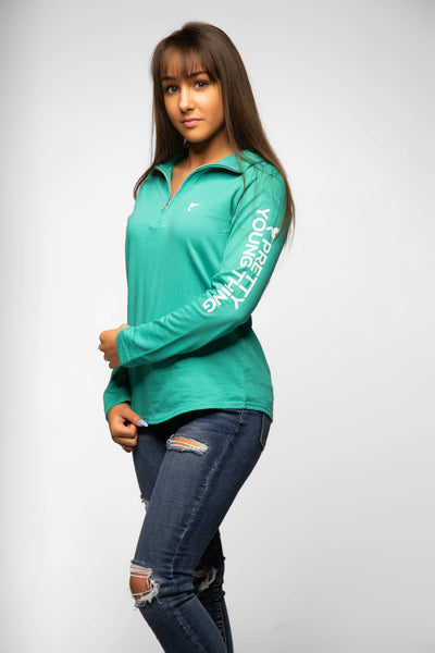 Quarter Zip Pretty Young Thing Pullover 4 Colors