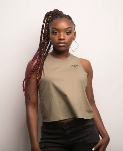 Cropped Racerback Tee 3 Colors