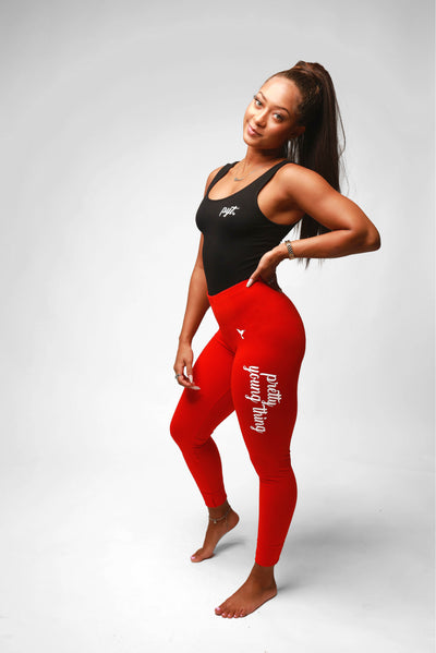 Pretty Young Thing Cursive Logo Leggings