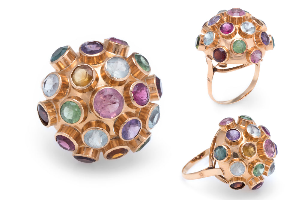 Sputnik Gemstone Cocktail Ring