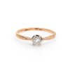 Antique Deco Diamond Ring 0.25ct Old Mine Cut 14k Yellow Gold Engagement Vintage