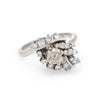 1.50ctw Diamond Cocktail Ring Vintage 14k White Gold Estate Fine Jewelry Sz 7
