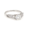 Vintage Cartier Diamond Antique Engagement Ring