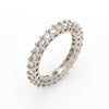 1.89ct Diamond Eternity Ring Sz 7 Vintage Fine Estate Jewelry Stacking