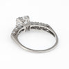 Antique Deco .85ct Diamond Engagement Ring Vintage 14k White Gold Estate
