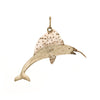 Marlin Fish Diamond Pendant Vintage 14k Yellow Gold Estate Fine Jewelry Fishing