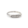 Diamond Wedding Band Ring Vintage 14 Karat White Gold Estate Fine Jewelry Sz 6.75